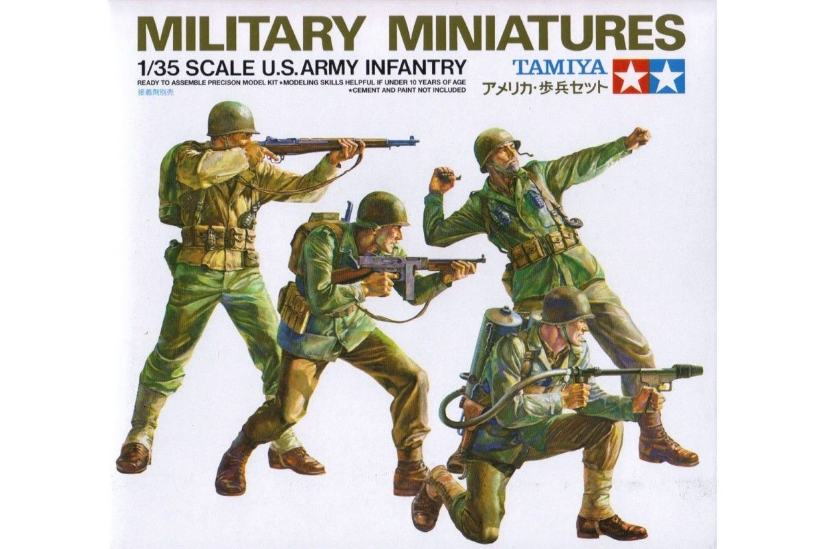 Allied Army Infantry Kit - Tamiya 35013 - plastic model kit - 1/35 scale