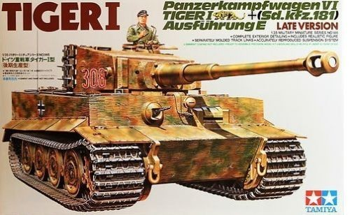 German Heavy Tiger I Late Ver  - Tamiya 35146 - plastic model kit - 1/35 scale