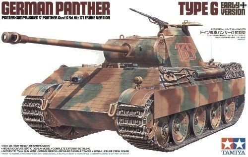 German Panther Type G Early Version - Tamiya 35170 - plastic model kit - 1/35 scale