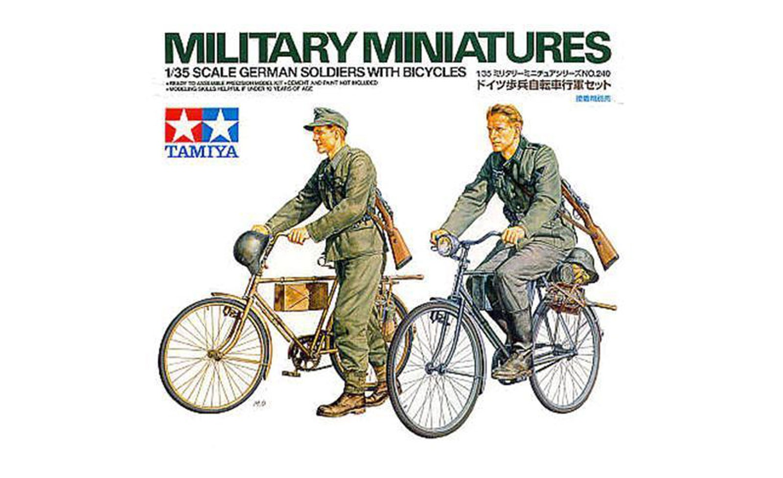 German Soldiers with Bicycles - Tamiya 35240 - plastic model kit - 1/35 scale