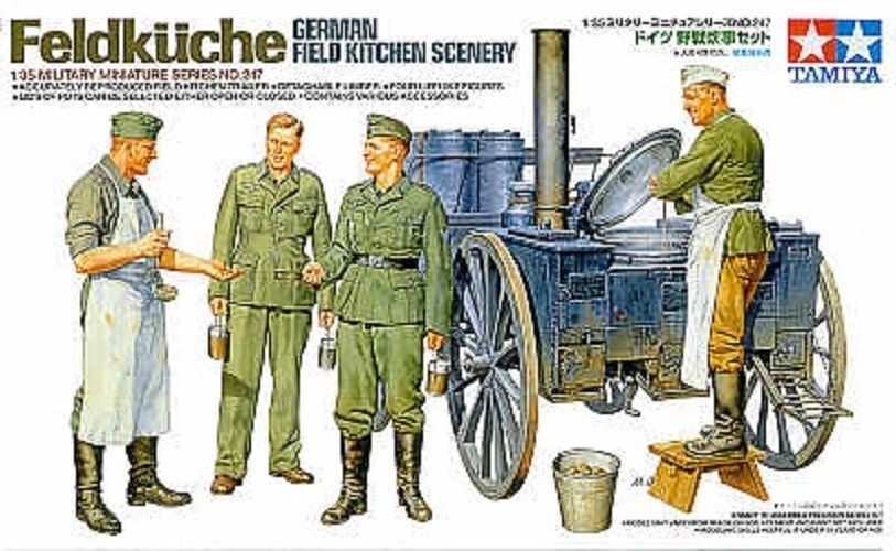 German Field Kitchen Scenery - Tamiya 35247 - plastic model kit - 1/35 scale