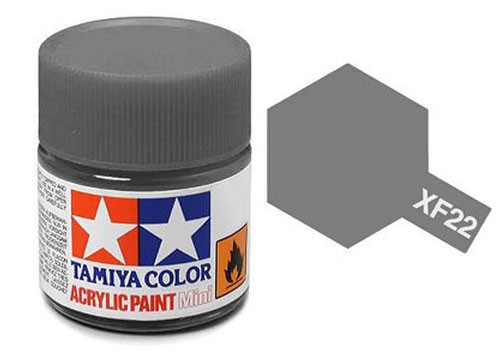 Acrylic Mini XF-22 Flat RLM Grey - 81722 - 10ml Bottle