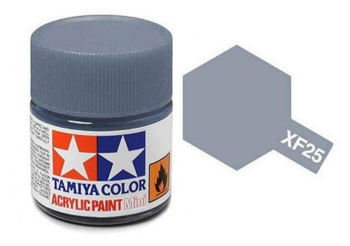 Acrylic Mini XF-25 Flat Light Sea Grey - 81725 - 10ml Bottle