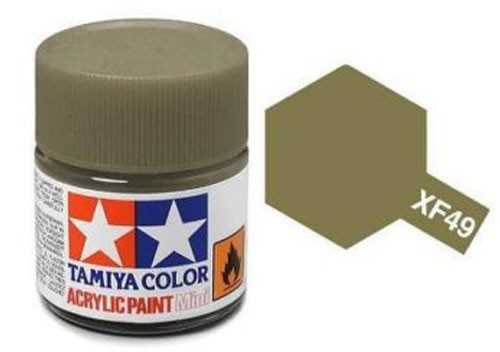 Acrylic Mini Tamiya XF-49 Flat Khaki - 81749 - 10ml Bottle