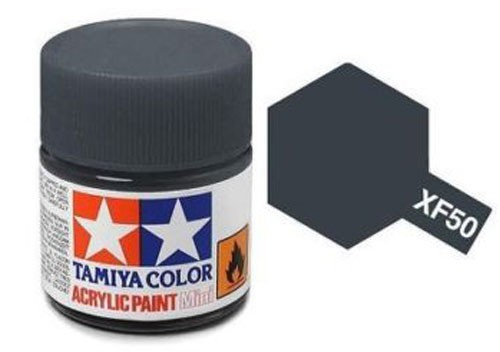 Acrylic Mini Tamiya XF-50 Flat Field Blue - 81750 - 10ml Bottle