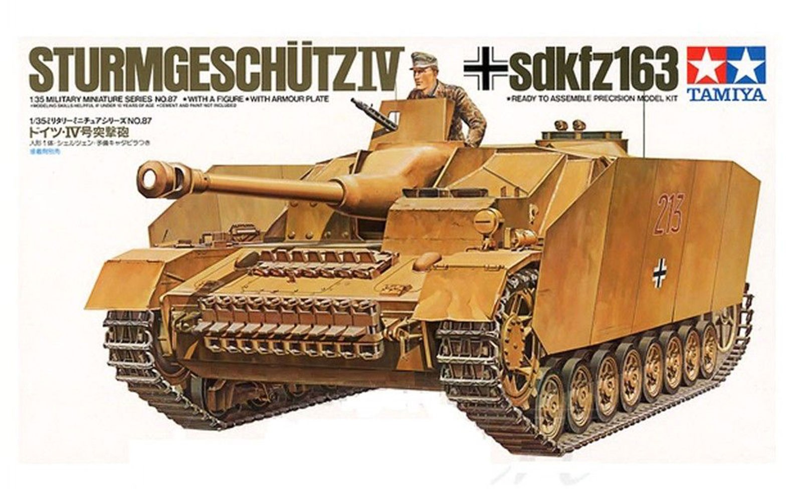 German Sturmgeschutz IV Kit - CA187 - Tamiya 35087 - plastic model kit - 1/35 scale