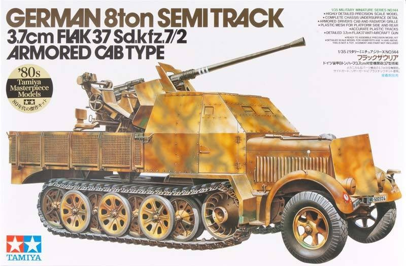 German Flak 37 Sd.kfz.7/2 Kit - Tamiya 35144 - plastic model kit - 1/35 scale