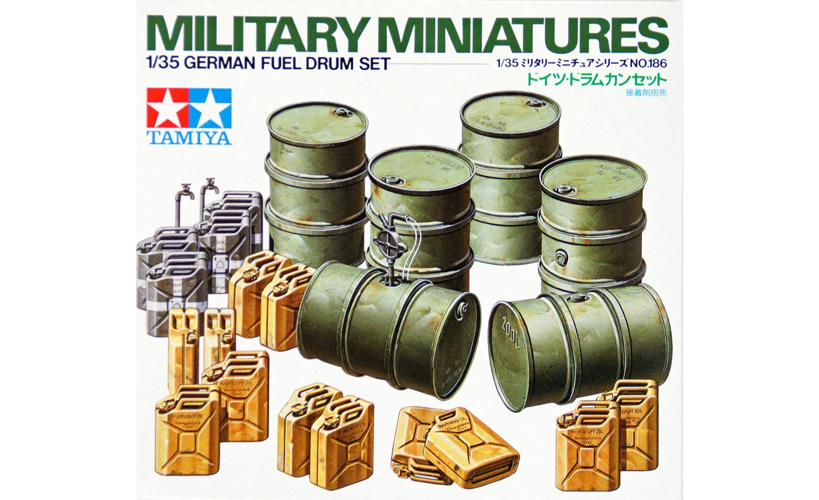 German Fuel Drum Set - Tamiya 35186 - plastic model kit - 1/35 scale