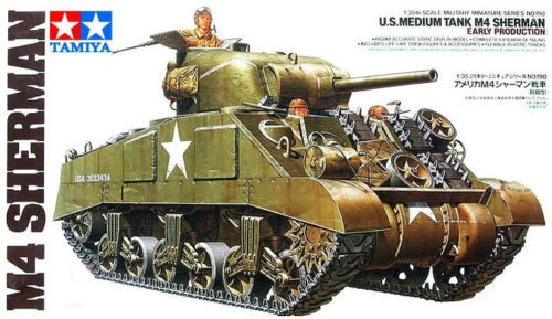 Allied Medium Tank M4 Sherman - Early Production - Tamiya 35190 - plastic model kit - 1/35 scale