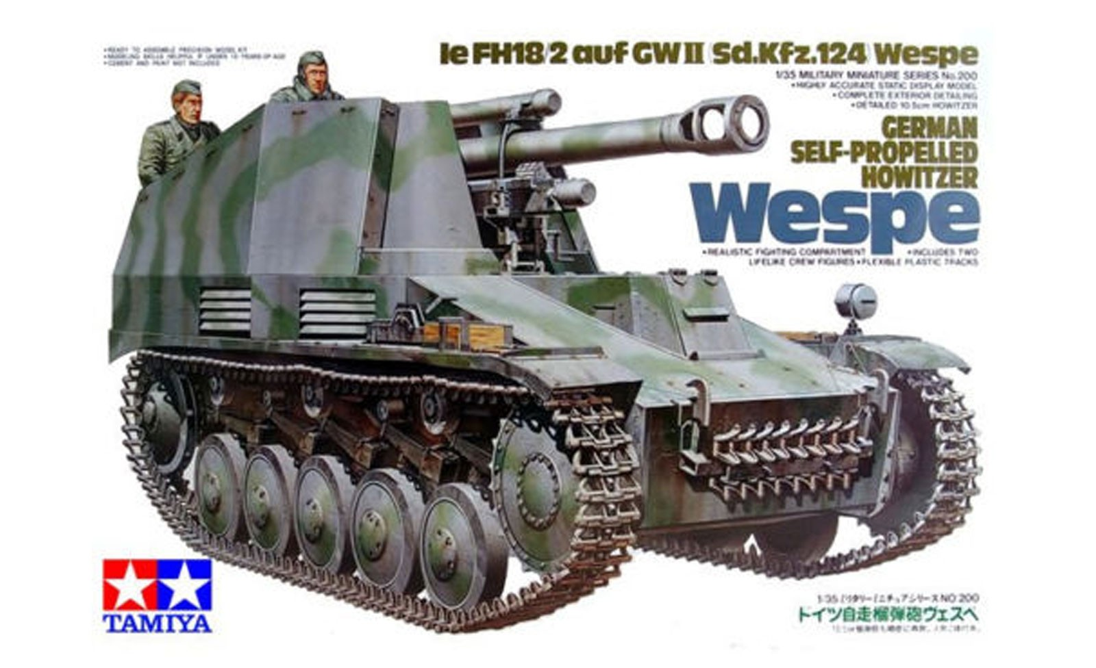 "German Self-Propelled Howitzer ""WESPE"" - Tamiya 35200 - plastic model kit - 1/35 scale"