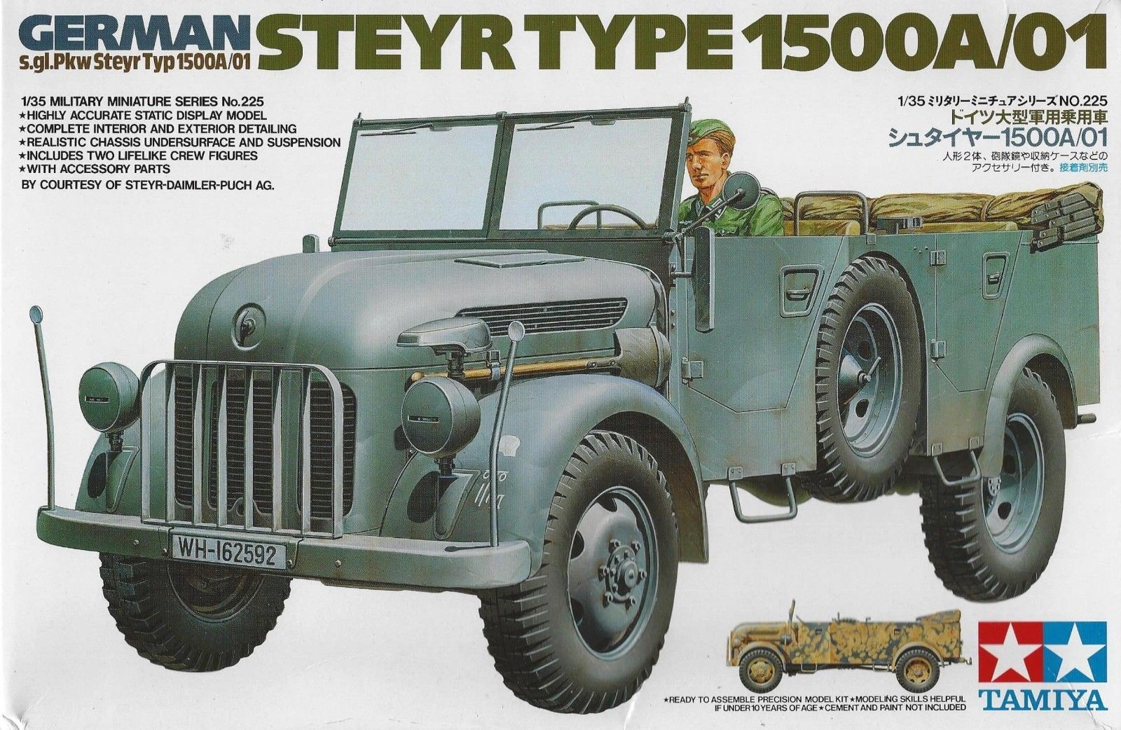 German Steyr 1500A/01 - Tamiya 35225 - plastic model kit - 1/35 scale