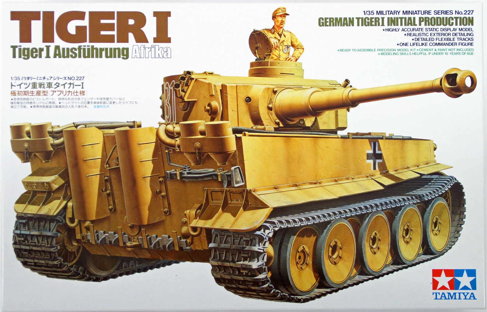 German Tiger I Initial Production - Tamiya 35227 - plastic model kit - 1/35 scale