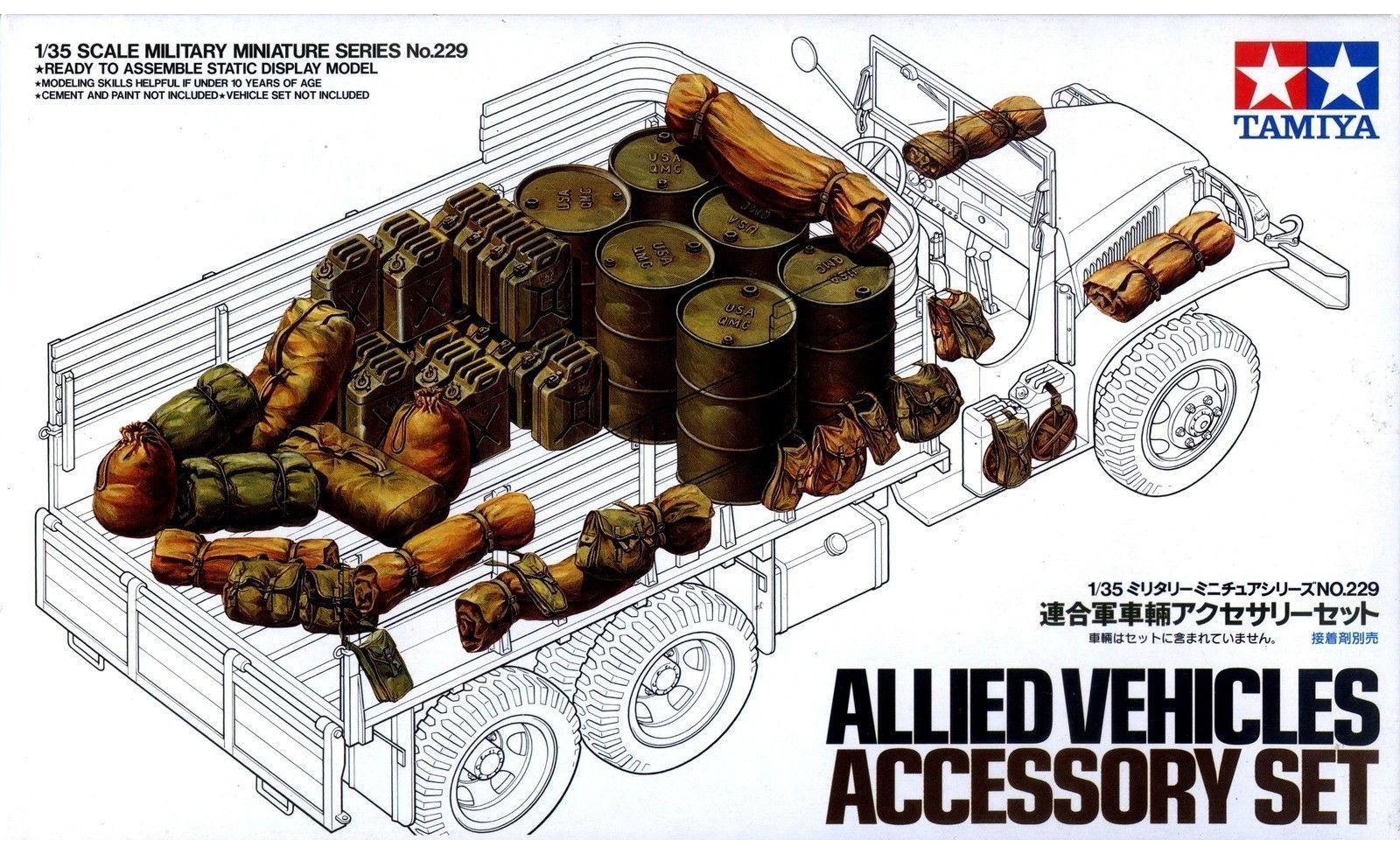 Allied Vehicles Accessory Set - Tamiya 35229 - plastic model kit - 1/35 scale