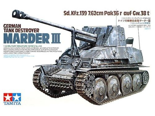 German Tank Destroyer Marder III - Tamiya 35248 - plastic model kit - 1/35 scale