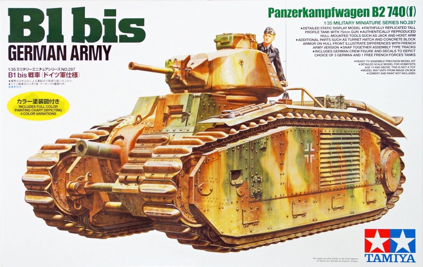 German B1 bis - Tamiya 35287 - plastic model kit - 1/35 scale