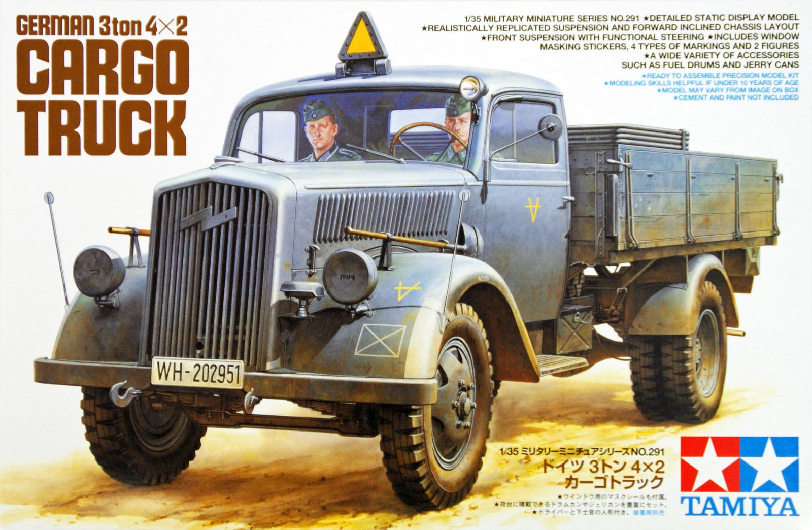 German 3Ton 4x2 Cargo Truck - Tamiya 35291 - plastic model kit - 1/35 scale