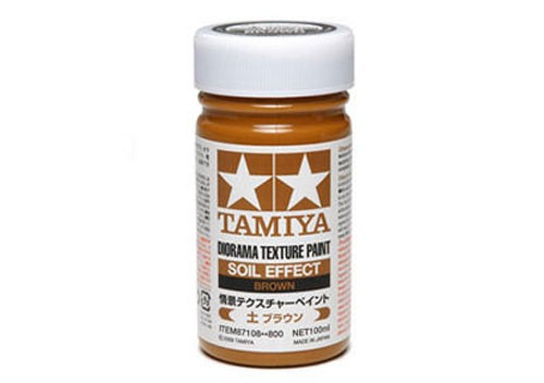 Tamiya Diorama Texture Paint 100ml - 87108 - Soil Effect: Brown