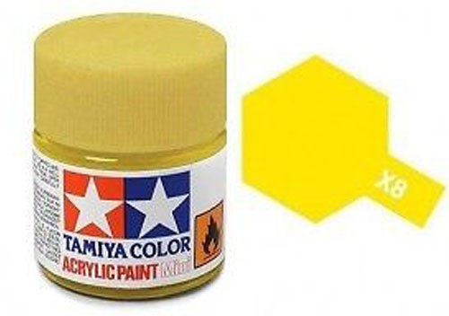 Acrylic Mini Tamiya X-8 Yellow Gloss - 81508 - 10ml Bottle