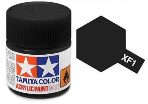Acrylic Mini Tamiya XF-1 Flat Black - 81701 - 10ml Bottle