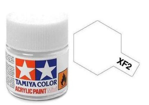 Acrylic Mini XF-2 Flat White - 81702 - 10ml Bottle
