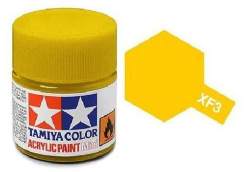 Acrylic Mini XF-3 Flat Yellow - 81703 - 10ml Bottle