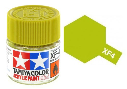 Acrylic Mini XF-4 Flat Yellow Green - 81704 - 10ml Bottle