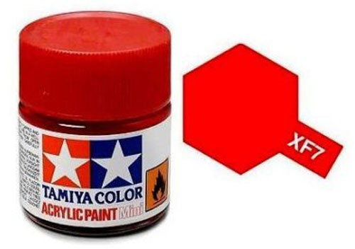 Acrylic Mini Tamiya XF-7 Flat Red - 81707 - 10ml Bottle