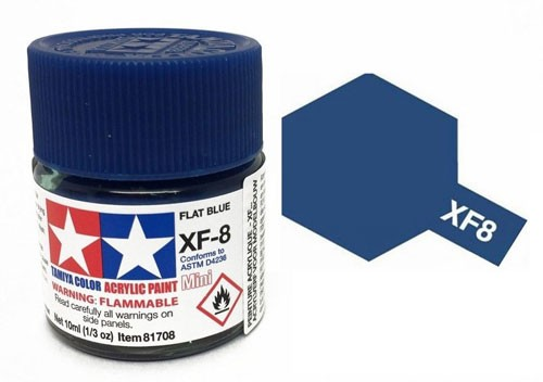 Acrylic Mini XF-8 Flat Blue - 81708 - 10ml Bottle