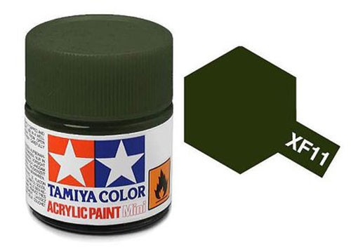 Acrylic Mini XF-11 Flat Navy Green - 81711 - 10ml Bottle
