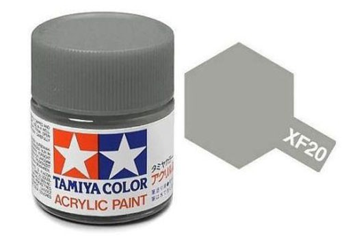 Acrylic Mini XF-20 Flat Medium Grey - 81720 - 10ml Bottle