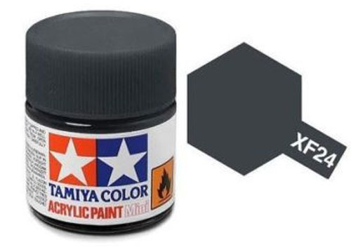 Acrylic Mini XF-24 Flat Dark Grey - 81724 - 10ml Bottle