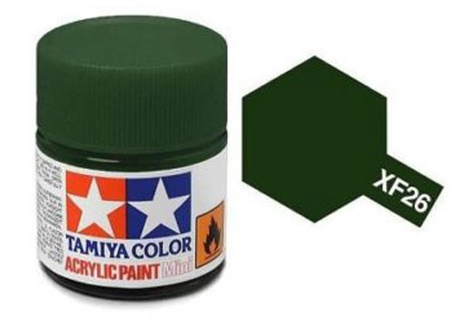 Acrylic Mini XF-26 Flat Deep Green - 81726 - 10ml Bottle
