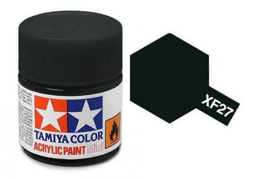 Acrylic Mini Tamiya XF-27 Flat Black Green - 81727 - 10ml Bottle