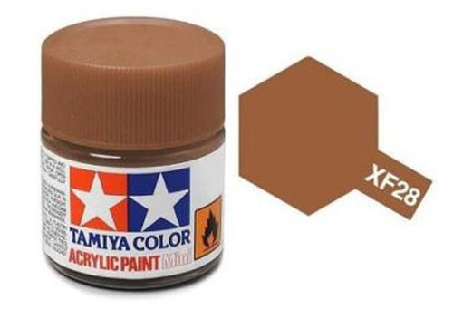 Acrylic Mini Tamiya XF-28 Flat Dark Copper - 81728 - 10ml Bottle