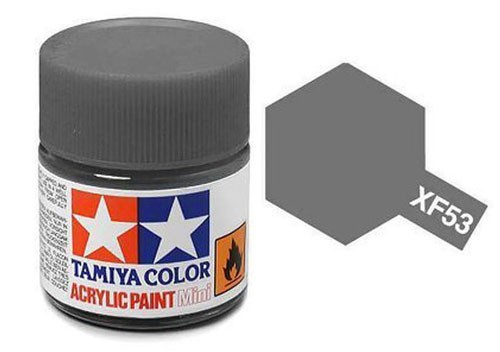 Acrylic Mini Tamiya XF-53 Flat Neutral Grey - 81753 - 10ml Bottle