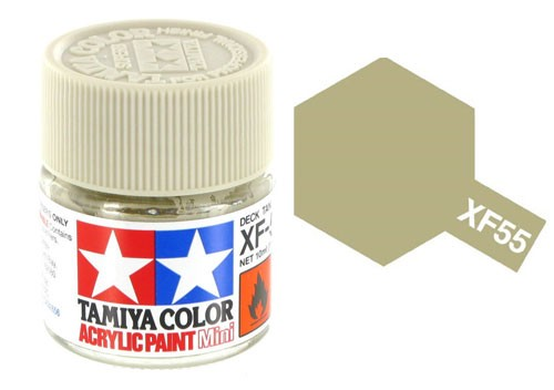 Acrylic Mini Tamiya XF-55 Flat Deck Tan - 81755 - 10ml Bottle