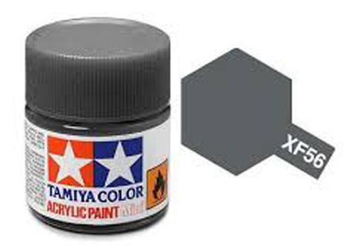 Acrylic Mini Tamiya XF-56 Flat Metallic Grey - 81756 - 10ml Bottle