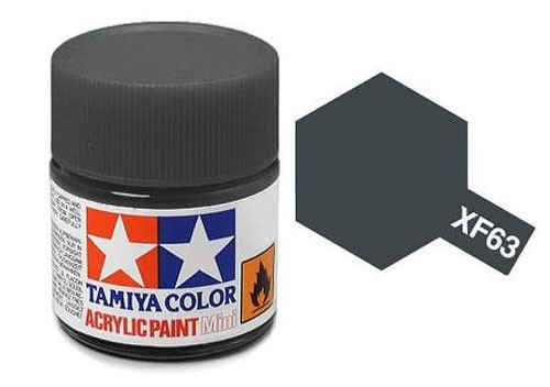 Acrylic Mini Tamiya XF-63 Flat German Grey - 81763 - 10ml Bottle