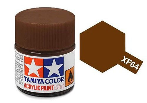 Acrylic Mini Tamiya XF-64 Flat Red Brown - 81764 - 10ml Bottle