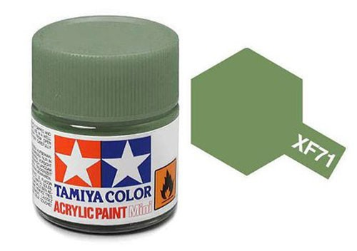 Acrylic Mini Tamiya XF-71 Flat Cockpit Green - 81771 - 10ml Bottle