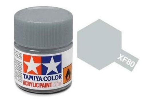 Acrylic Mini Tamiya XF-80 Flat British Navy Gray - 81780 - 10ml Bottle