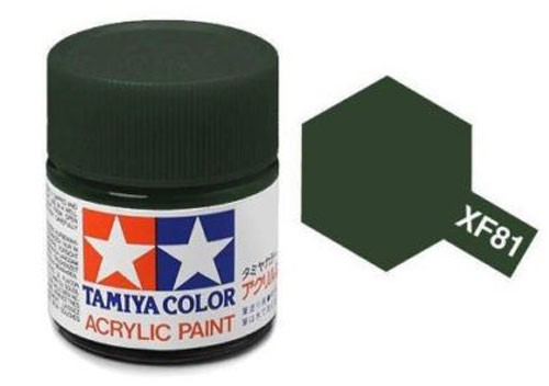 Acrylic Mini Tamiya XF-81 Flat Dark Green 2 RAF - 81781 - 10ml Bottle
