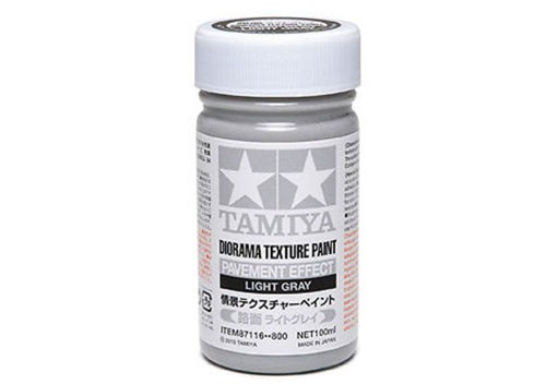 Tamiya Diorama Texture Paint 100ml - 87116 - Pavement Effect, Light Gray