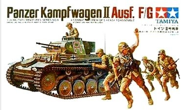 German Panzerkampfwagen II Ausf.F/G - Tamiya 35009 - plastic model kit - 1/35 scale