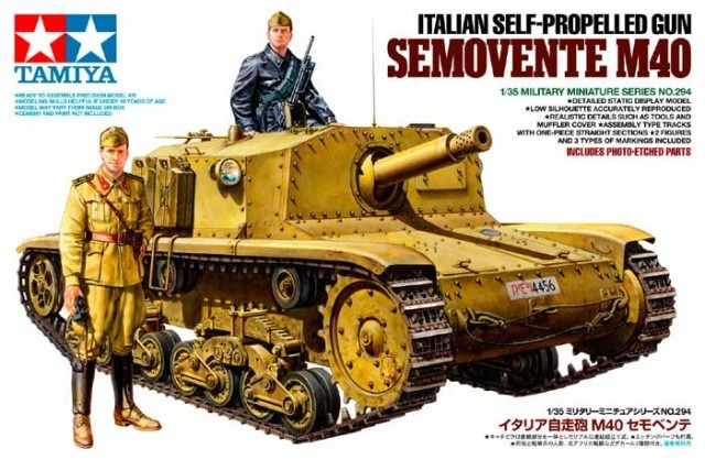 Italian SP Gun Semovente M40 - Tamiya 35294 - plastic model kit - 1/35 scale