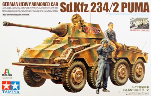 German Heavy Armored Car - Sd.Kfz.234/2 Puma - Tamiya 37018 - plastic model kit - 1/35 scale