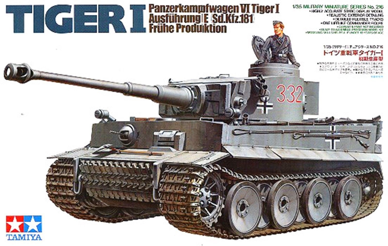 German Tiger I Early Production - Tamiya 35216 - plastic model kit - 1/35 scale
