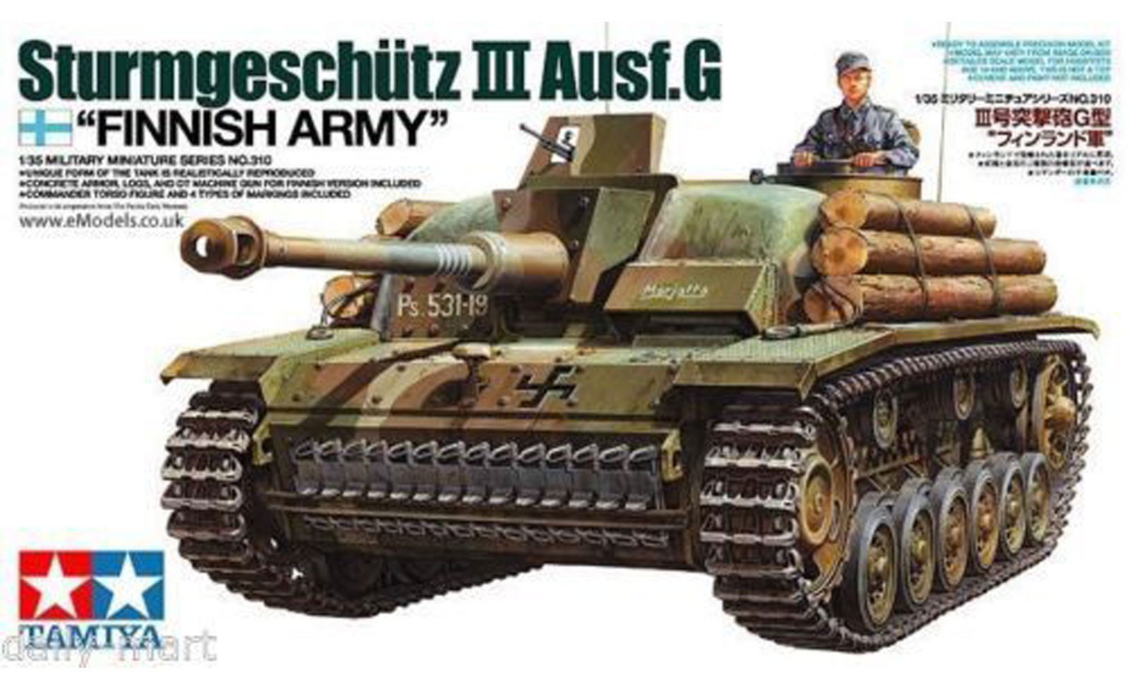 "German Sturmgeschutz III Ausf.G - ""Finnish Army"" - Tamiya 35310 - plastic model kit - 1/35 scale"