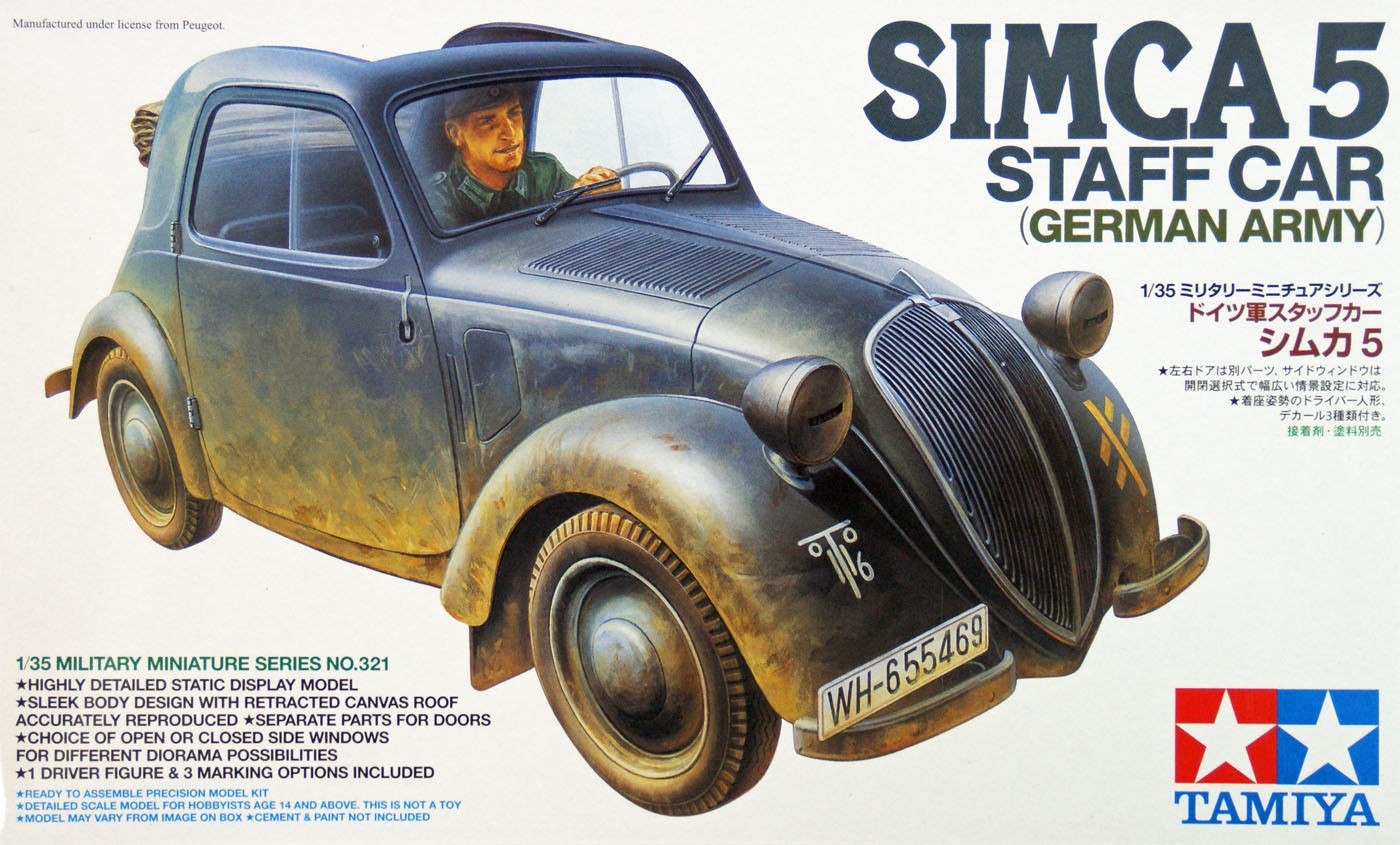 German Simca 5 Staff Car - Tamiya 35321 - plastic model kit - 1/35 scale