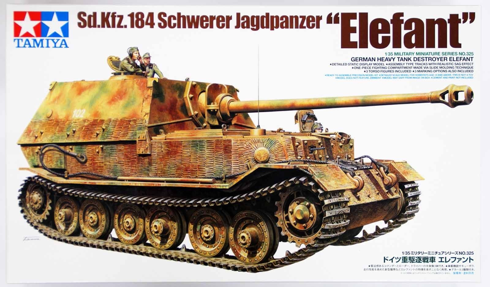 GermanTank Destroyer ''Elefant'' - Tamiya 35325 - plastic model kit - 1/35 scale